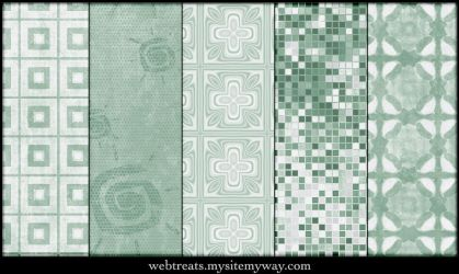 Grungy Mint Green Patterns by WebTreatsETC
