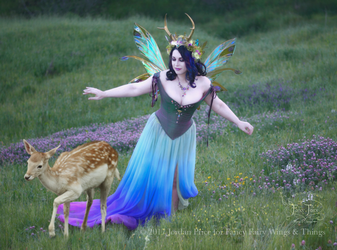 Twilight Fairy Queen with Faun by FaeryAzarelle