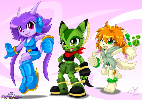 Freedom Planet Girls by Arung98
