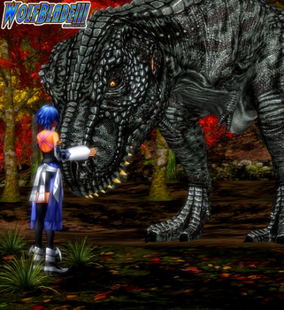 The Keyblade Master and The King of Dinosaurs. by WOLFBLADE111