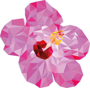Flower low poly by oddkh1