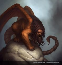 BloodRealms Manticore by chrstphrwest