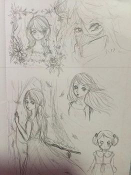 Sketches inspired by music by cellesticca