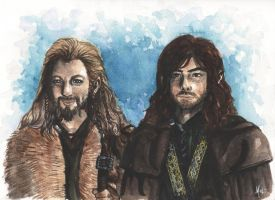 Fili and Kili by melissamyraf