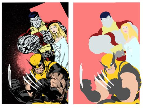 X-Men Pinup Flats by Staminaboy