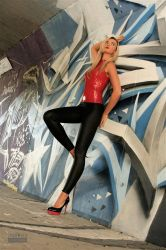 Danca Leggings Red Top 03 by malkiss
