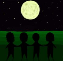 The Four Children of the Moon by Bruew