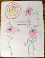 Fancy Flowers - Haiku Letter Drawing by Kyle-Lefort