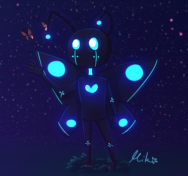 Android Moth by MikoMei