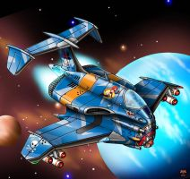 ACA-80 Pirate Fighter by Artraccoon