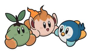 Kirby / Turtwig - Chimchar - Piplup