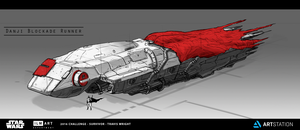 ILM Challenge - The Job - Danji Blockade Runner by ApneicMonkey