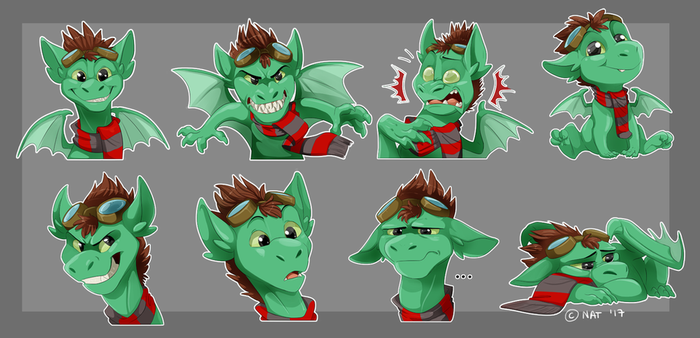 Comm: Chief Scarneck Stickers by Natsuakai