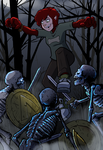 Lyn versus skeleton warriors by ZombieRoomie