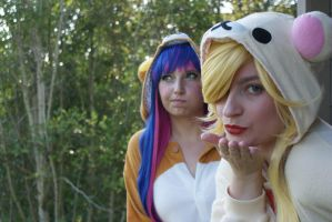 Panty and Stocking Kigurumi by laurabububun