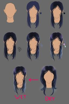 How to...draw wet hair by AmeDvleec