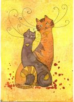 Honey cats by StaceyTram