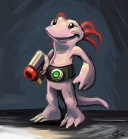 Axle the Axolotl by AmazingTrout