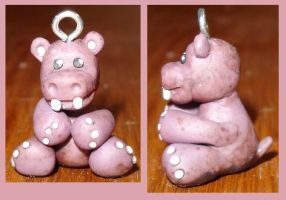 Zoo Charms: Hippo by deltadream