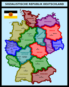Map of Socialist Republic of Germany by matritum