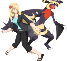 Cynthia and Garchomp - Alola Duo