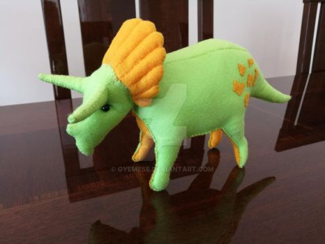 Plush Triceratops by Gyemese