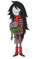 Sweater Time With Marcy and Hambo by Aloof-Spaghetti