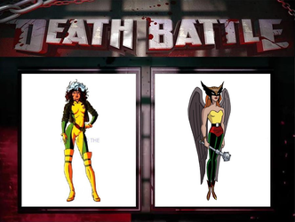 Rogue vs. Hawkgirl by JasonPictures