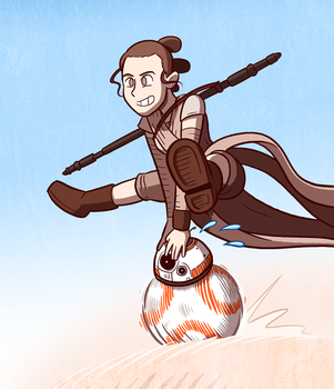Rey and BB-8 by samandfuzzy