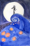 The Nightmare Before Christmas (Watercolor) by snowcloud8