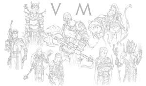 Critical role vox machina sketches by NikolayAsparuhov