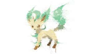 Paint Drip Leafeon by ImpersonatingPanda