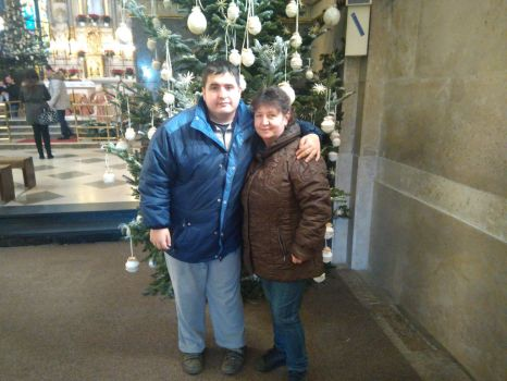 My Son And Mother to Christmas tree by josipnemethzg1