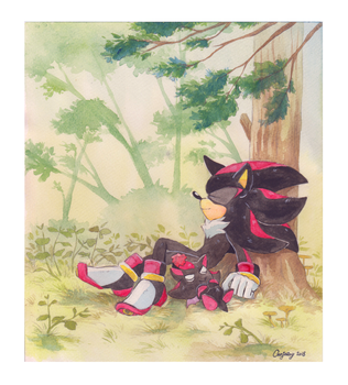 Forest nap by GenJoany