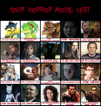 My Horror Movie Cast by CrashValentine