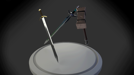 Three 3d weapons by EvilBeanz13