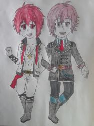 Riku Nanase and Tenn Kujo Fanart by Pachigirl1