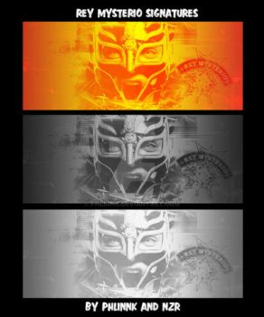 Rey Mysterio Signatures 3 versions by PHLiNNk