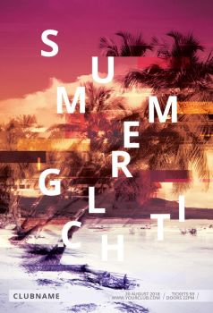 Summer Glitch Flyer by styleWish