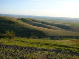 Hills and Farm Land Stock by Enchantedgal-Stock