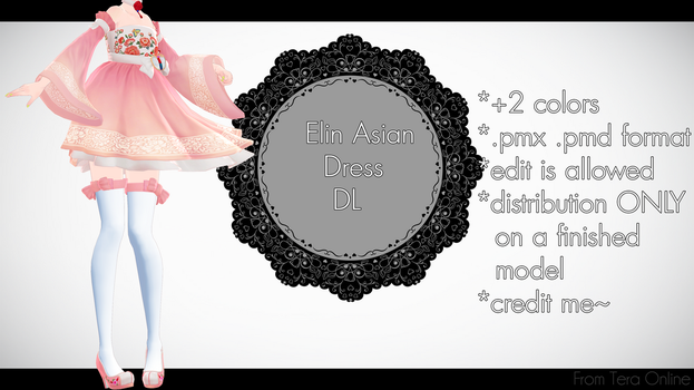 |MMD| Elin Asian Dress Download by Dastezi