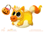 Daily Paint 1800# Unicandy Corn by Cryptid-Creations