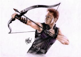 The Avengers - Hawkeye by SilkSpectreII