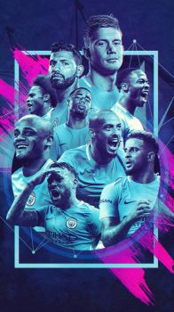 Manchester City - Premier League Champions 17/18 by Kerimov23
