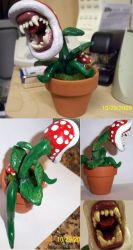 Clay Piranha Plant Final by RyouYamiBakura