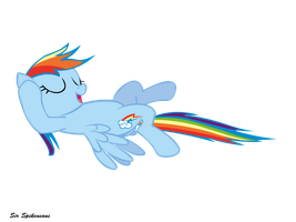 Chilling Rainbow Dash by SirSpikensons