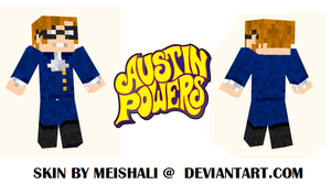 Minecraft - Austin Powers Skin by Meishali