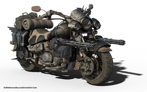 Free Stock PNG:  Wasteland Road Cruiser by ArtReferenceSource