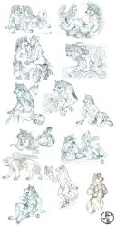 Canine Practice Sketch Collage by balaa
