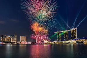 Singapore 49th National Day Fireworks by josgoh